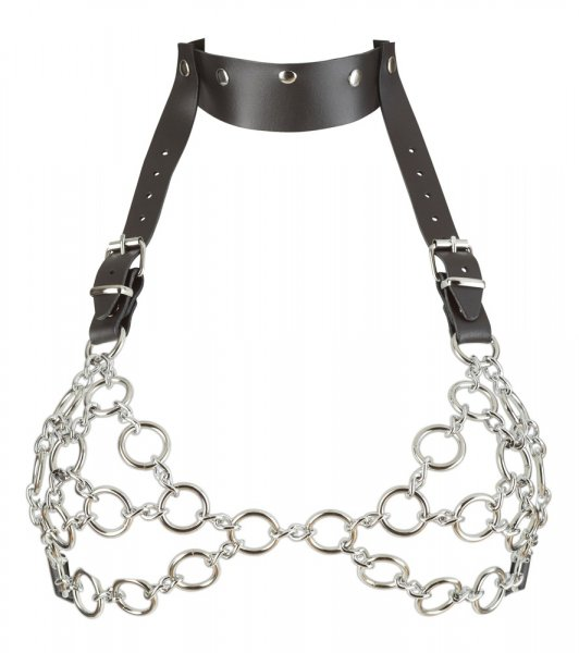 Leather and Metal Bra S-L 1