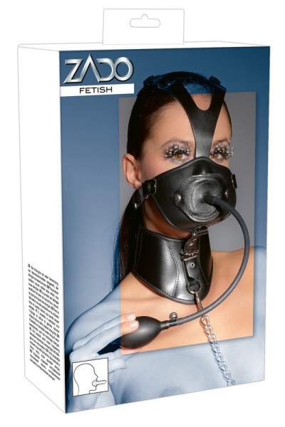 Leather Head Mask and Gag 0