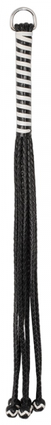 Leather Flogger with Balls 54 cm 3