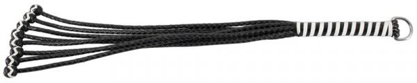 Leather Flogger with Balls 54 cm 4