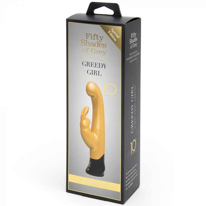 Greedy Girl G-Spot Rabbit Vibrator Gold 4