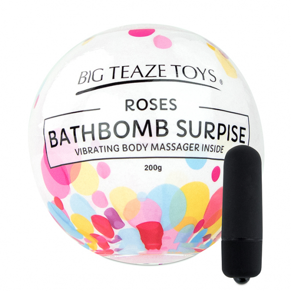 Bath Bomb Surprise w Vibrating Body Massager Rose 1