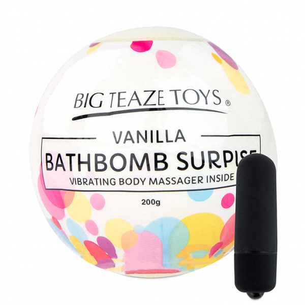 Bath Bomb Surprise w Vibrating Body Massager Vanilla 1