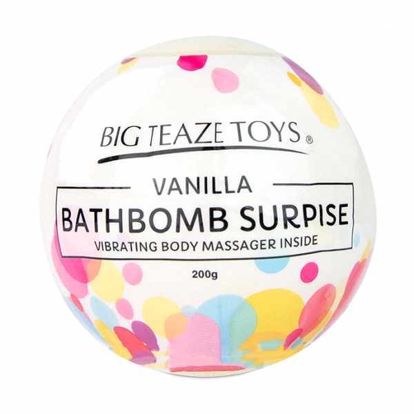 Bath Bomb Surprise w Vibrating Body Massager Vanilla 2