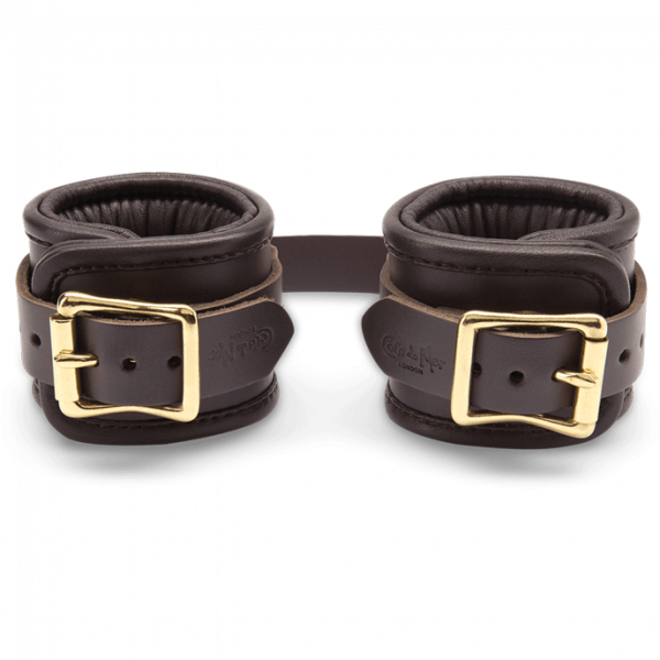 Coco de Mer - Leather Wrist Cuffs S/M Brown 1