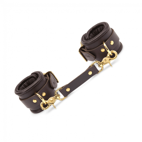 Coco de Mer - Leather Wrist Cuffs S/M Brown 0