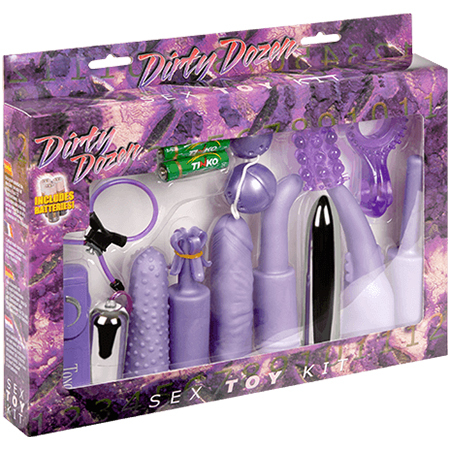 Dirty Dozen Sex Toy Kit Purple 0