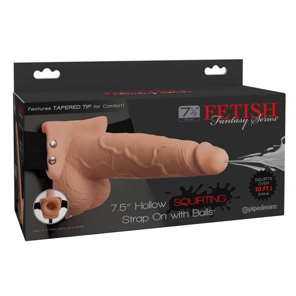 Fetish Fantasy - Strap On Hollow 19 cm cu Ejaculare 3