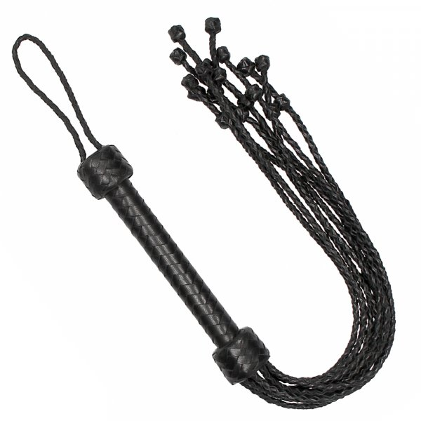 Flogger Impletit din Piele Naturala by Pain 0