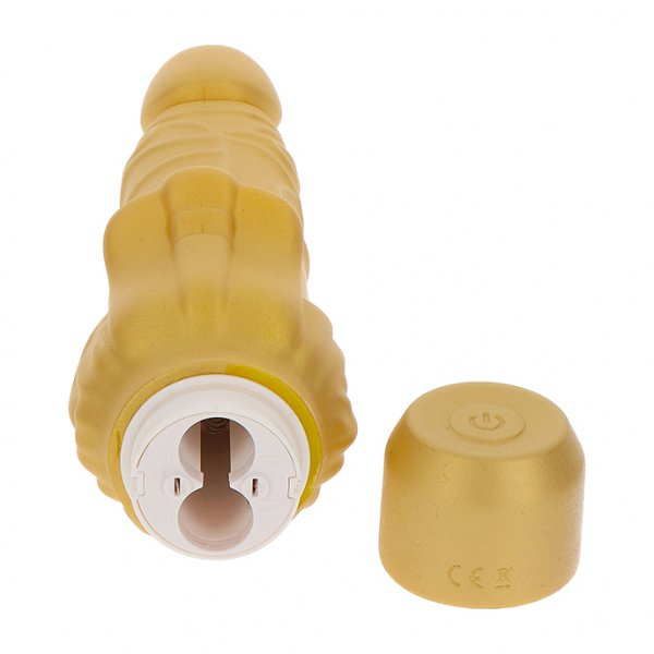 Gold Dicker Stim - Vibrator din Silicon by ToyJoy 5