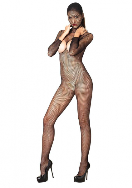 Hooded Fishnet Bodystocking 0