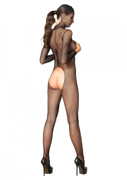 Hooded Fishnet Bodystocking 1