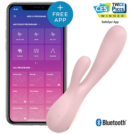 Mono Flex - Vibrator Rabbit Smart by Satisfyer | Roz 0