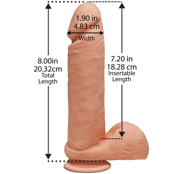 The Perfect D - Dildo 20 cm cu Baza Aderenta by Doc Johnson | Skin 1