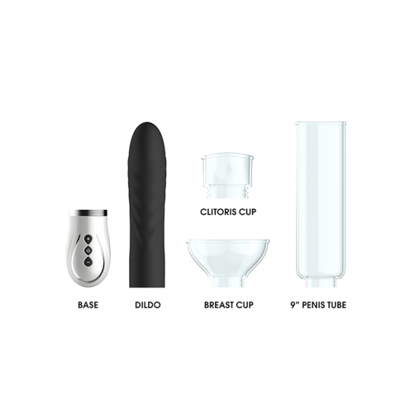 Twister - 4 in 1 Rechargeable Couples Pump Kit - Black 2
