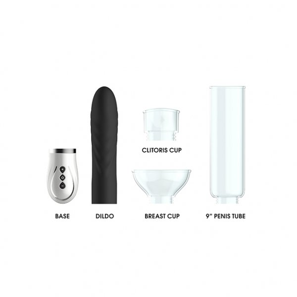 Twister - 4 in 1 Rechargeable Couples Pump Kit - Black [2]