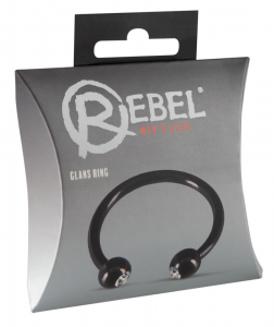 Rebel - Inel Penis Din Metal Glans Ring0