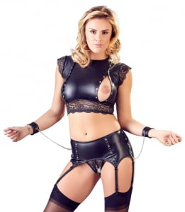Top and Crotchless Suspender Briefs1
