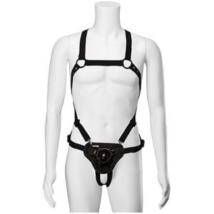 Strap On Chest - Suspender Harness w Pluh1