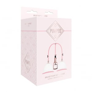 Breast Pump Set Medium - Rose Gold1