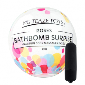 Bath Bomb Surprise w Vibrating Body Massager Rose1