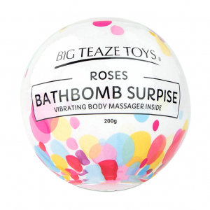 Bath Bomb Surprise w Vibrating Body Massager Rose2