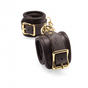 Coco de Mer - Leather Wrist Cuffs S/M Brown2