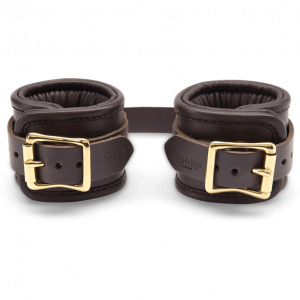 Coco de Mer - Leather Wrist Cuffs S/M Brown1
