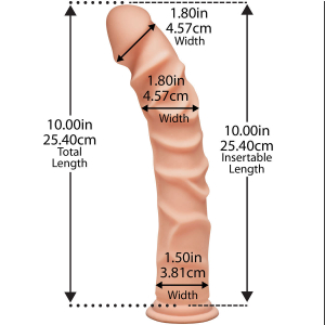 The Ragin' D - Dildo 25 de Centimetri  Cu Ventuza1